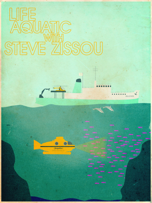 minimalmovieposters:  The Life Aquatic With Steve Zissou by Christian Frarey robertsrants' request  Love this.