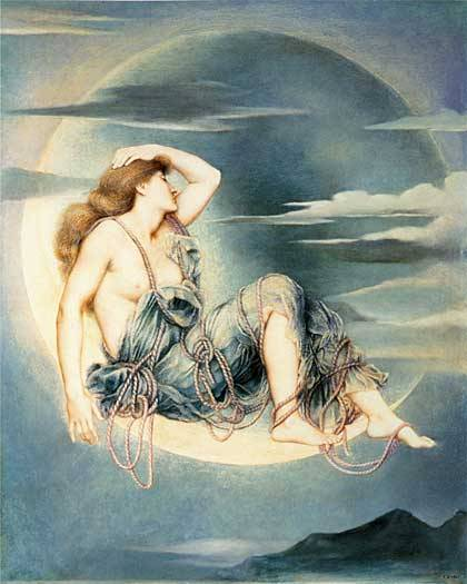 Evelyn De Morgan,  Luna 1885