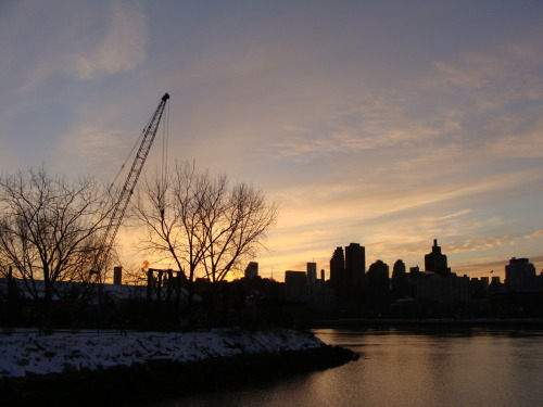 audrey dimola: winter twilight on the river; long island city, queens AD's inspiration and reason: this shot is from an impromptu walk in socrates sculpture park yesterday as the sun was going down. i really like this shot because of the mood it creates – the shadows and the darkness, the silhouettes, the watercolor sky, and the fading amber light. i love coming back to this vantage point and taking pictures in different seasons and at different times of day – it's amazing how the view changes. it's a reminder to take it slow and capture the subtle details in the world around you.