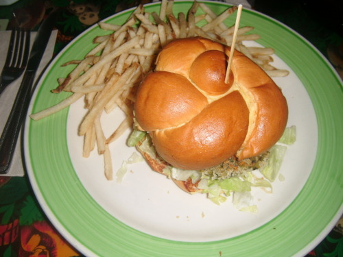 Rainforest cafe veggie burger Submitted by leatherstuddedkisses01