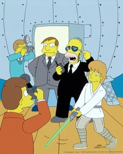 ohyeahstarwars:  Mark Hamill as a guest star in The Simpsons (Mayored To The Mob)