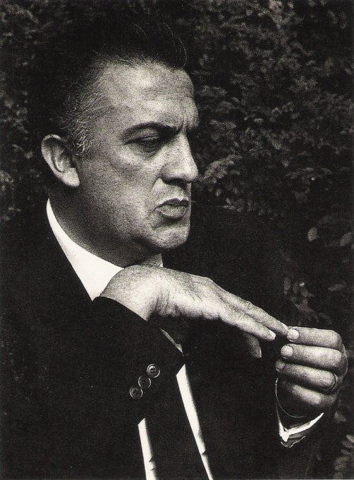 Federico Fellini. photo by John Phillips