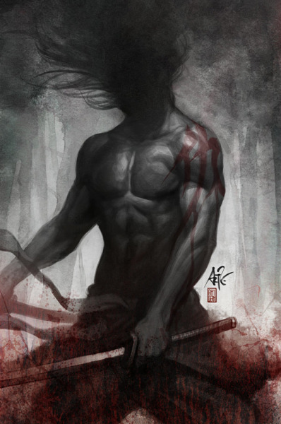 "pacalin:  Just shush…and get on my wall. Samurai Spirit: Vengeance - by Stanley Lau ""Faceless, mindless & soulless"""