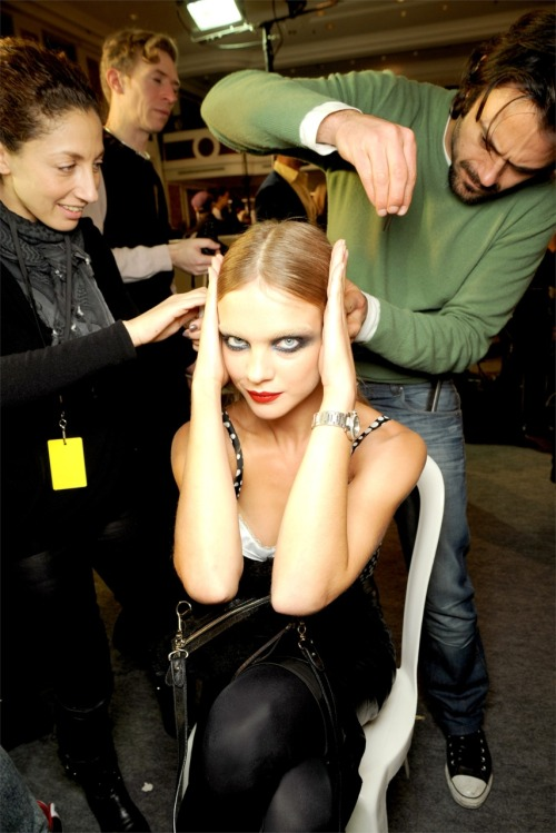 Natalia Vodianova backstage at Givenchy S/S 2010 Haute Couture.