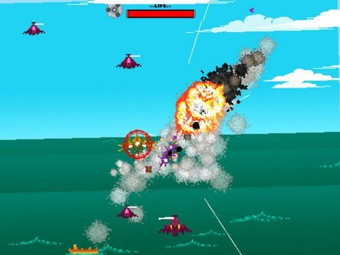 The demo for JetPilot GoNOW, the latest game from Amon26, who is featured in both trailers for The Nicest People, is out now and you all should definitely check it out! It's got definite shades of Sega, mostly AfterBurner and Space Harrier, along with a Robotnik-like boss for some Sonic flavor. My favorite thing about this demo is the movement of your plane — it really feels the way I'd imagine fighting a great deal of air friction at mach speeds would feel. Try it out!