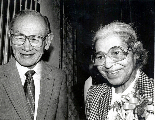 Fred Korematsu and Rosa Parks (Credit: Shirley Nakao) Fred T. Korematsu was a national civil rights hero. In 1942, at the age of 23, he refused to go to the government's incarceration camps for Japanese Americans. After he was arrested and convicted of defying the government's order, he appealed his case all the way to the Supreme Court. In 1944, the Supreme Court ruled against him, arguing that the incarceration was justified due to military necessity. In 1983, Prof. Peter Irons, a legal historian, discovered key documents that government intelligence agencies had hidden from the Supreme Court in 1944. The documents consistently showed that Japanese Americans had committed no acts of treason to justify mass incarceration. With this new evidence, a legal team of mostly Japanese American attorneys re-opened Korematsu's 40 year-old case on the basis of government misconduct. On November 10, 1983, Korematsu's conviction was overturned in a federal court in San Francisco. It was a pivotal moment in civil rights history.  Korematsu remained an activist throughout his life. In 1998, he received the Presidential Medal of Freedom, the nation's highest civilian honor, from President Bill Clinton. In 2010, the state of California passed the Fred Korematsu Day bill, making January 30 the first day in the US named after an Asian American. Korematsu's growing legacy continues to inspire activists of all backgrounds and demonstrates the importance of speaking up to fight injustice.