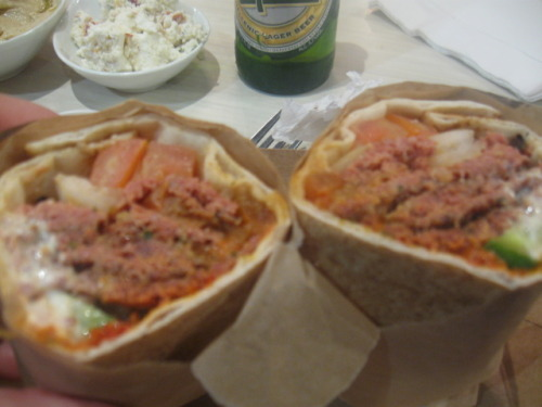 dishdinedarling:  My lamb pita wrap.  is food mourn