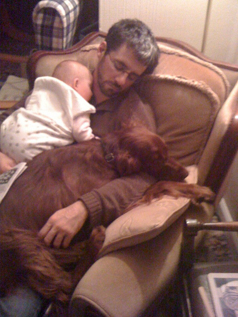 menandtheirdogs:  OUT FOR THE COUNT  So extremely adorable.