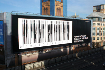 hilker:  a Stop the Traffik billboard in London. please click through, read the stories, and do what you can. [via Advertising Ka Kamaal's facebook page]