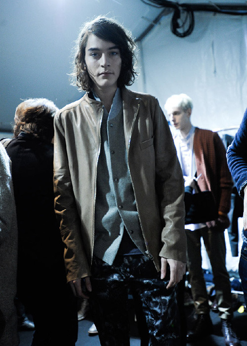 Jaco van den Hoven // Paul Smith FW 11, backstage