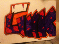 Going up on a wall this week some time or the next :) but wanna use a brighter purple so can see the black better :)