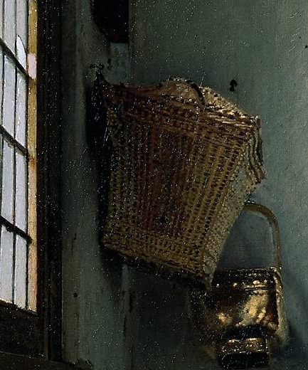 Jan Vermeer's The Milkmaid Detail