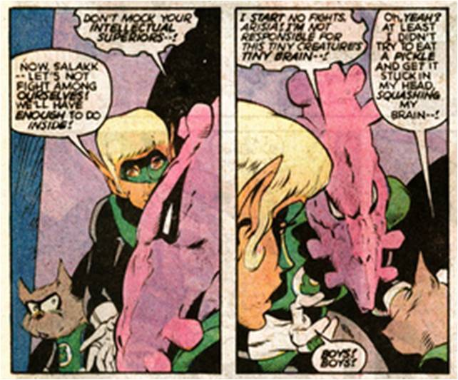 Ch'p could use a little help with his insults.  (Green Lantern #199, April 1986)