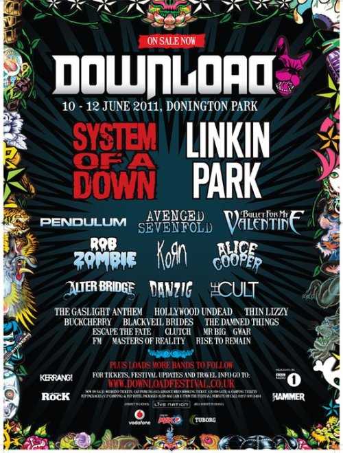 New Download lineup -24 January 2011