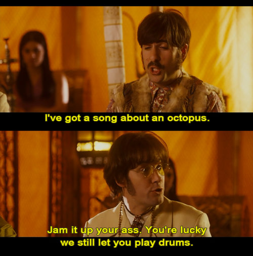 Aaw Poor Ringo. Paul Rudd as John Lennon lol