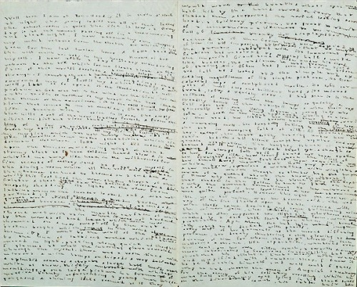 "aperfectcommotion:   ""An entry from the diary of a young Charlotte Brontë recalls a stormy  night and is 'crazily compressed into nearly microscopic print.'""  (smalljoys)"