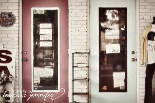 """Store Front"" - Photography by Leonora Jennifer for Yellow Heart Art **COMING SOON** Photo taken while out and about at the local shops in the village—I was drawn to the pink and blue doors (kinda like a moth to a flame, I dig colors) Enjoy! xoxoxo, Leonora Jennifer PS-if purchasing the ""Photography by Leonora Jennifer"" watermark will not appear in final print—thanks for understanding!"