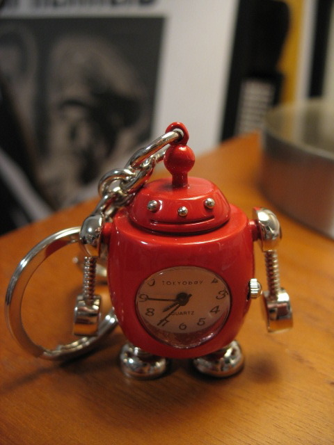 My brother sent me this great little robot/keychain/watch.