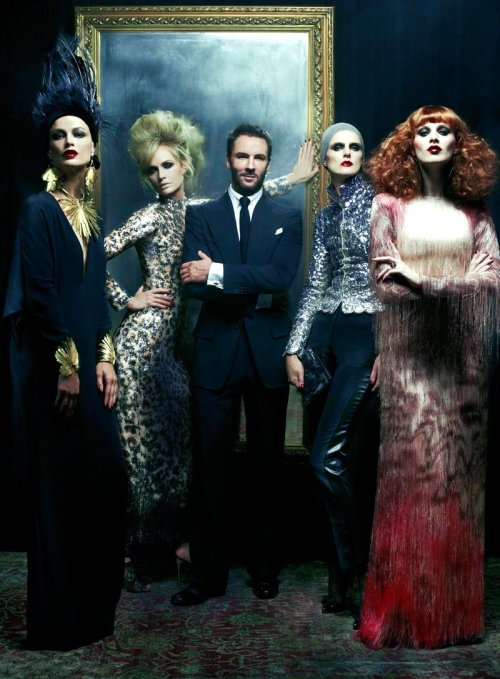 Amber Valetta, Carolyn Murphy, Stella Tennant, and Karen Elson for Vogue US (with Tom Ford)