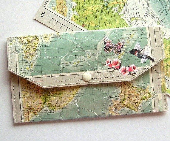 littlefever:  Travel File/Folder Paper and Vinyl by MyPaperGarden on Etsy