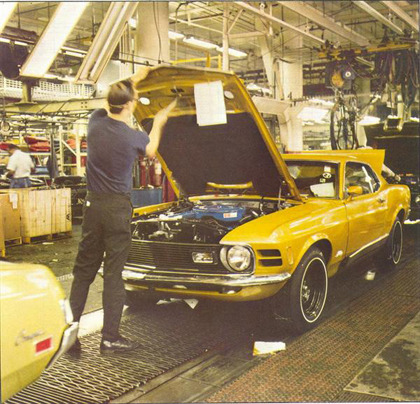 THROWBACK THURSDAY Assembly Line shot of a 1970 351C Mach 1