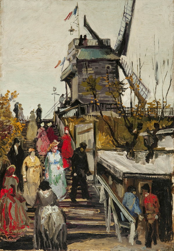 "Le Blute-Fin Mill (Zwolle (Netherlands), Museum de Fundatie; 1886) Oil on canvas 55.2 x 38 cm.  The newly authenticated Van Gogh has gone on display 35 years after an art collector bought it in Paris, convinced it was painted by the famed Dutch master but never able to prove it. Louis van Tilborgh, curator of research at the Van Gogh Museum in Amsterdam, said ""Le Blute-Fin Mill"" was done in 1886. He said its large human figures are unusual for a Van Gogh landscape but it has his typically bright colors."