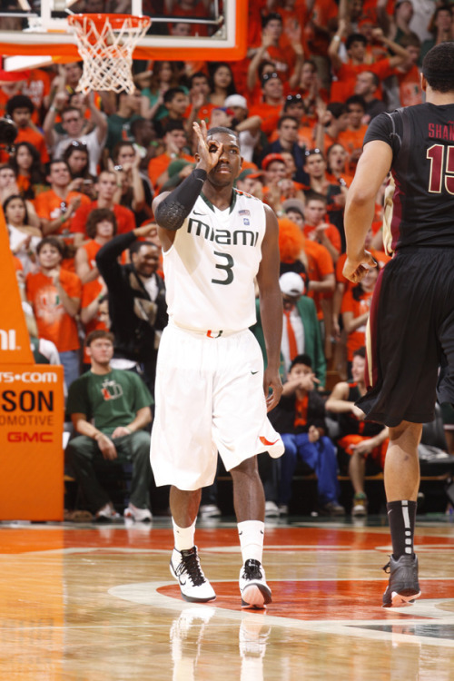 DID U KNOW? Miami's Malcolm Grant ranks 11th in the nation in free throw percentage (90.1 percent) and 16th in three-point field goal percentage (44.3 percent). He shot 5-for-5 from beyond the arc at NC State to tie a school record.