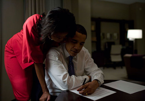 afrobella:  POTUS + FLOTUS. If loving them is wrong, I don't wanna be right yououghttoknow:  awwww!
