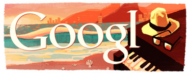 //Google honors Tom Jobim - Brazilian musician