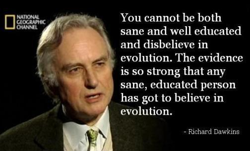 Dawkins assertiveness of Evolution