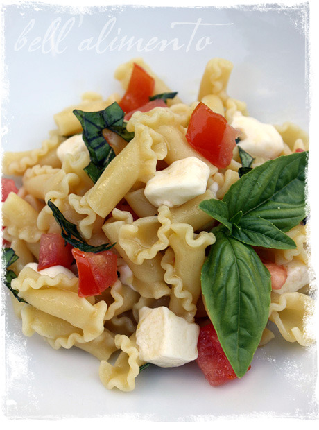 boyfriendreplacement:  Campanelle alla Mozzarella {Campanelle pasta w/fresh tomatoes, basil & mozzarella} Recipe