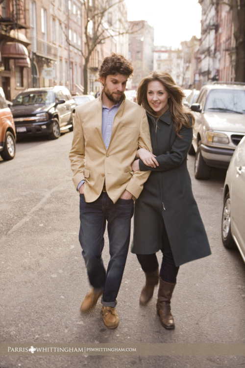 GREENWICH VILLAGE, NY — Lindsay and David pay homage to Freewheelin' Bob Dylan during their engagement photography session. Working with this couple was so memorable because they are laid back, easy-going, passionately in love and adventurous. Their New York excursion began in Chinatown and continued in Manhattan through Tribeca, Meatpacking District and eventually  Greenwich Village. As Lindsay and David enjoyed their cocktails at Madam Geneva, I peeked at my phone. Surprisingly, 4 hours had passed in what felt like minutes… Explore their New York engagement story.