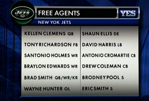 Mike T will have his hands full this off-season. sportsnetny:  Jets Free Agents