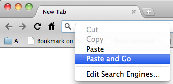 Google Chrome - Paste and Go in one click. /via Koke