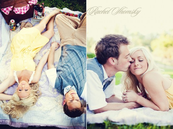 yourbigday:  on the blog today: dayna & matt's vintage picnic engagement. this couple is SO adorable!