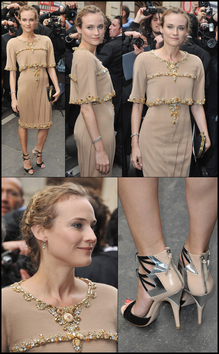 diane kruger | chanel show | paris fashion week haute couture s/s 2011 via
