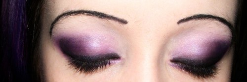 An oldish pic but here are my purple eyes. xx