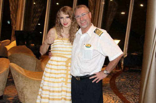 Taylor Swift and Captain Johnny onboard Royal Caribbean's Allure of the Seas