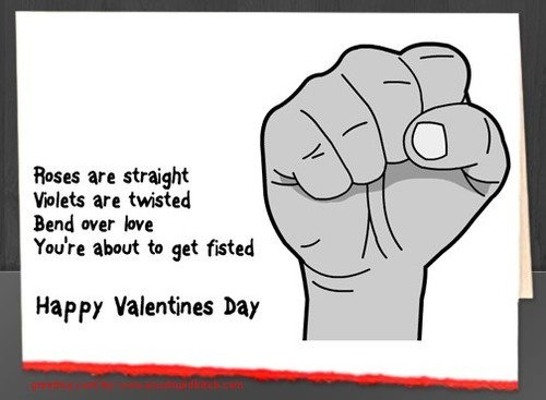 Love is… getting filthy Valentine's Day cards.