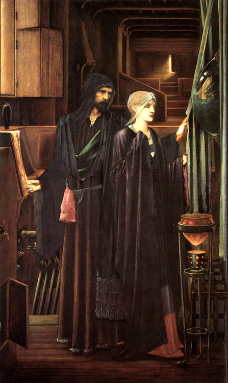 "Edward Burne-Jones.   ""The Wizard"""