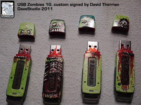 Zombie USB key 1G. custom…also on Ebay Also 4G in here By davestudio
