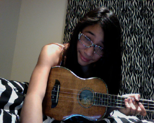 ZEBRA STRIPES :) AND MY UKE.