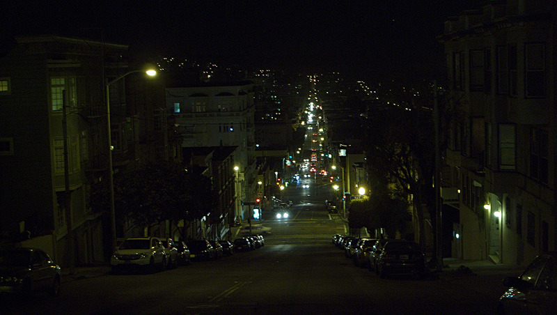 JANUARY 21, 2011 Somewhere near the Tenderloin, San Francisco, California.  We're riding bikes.