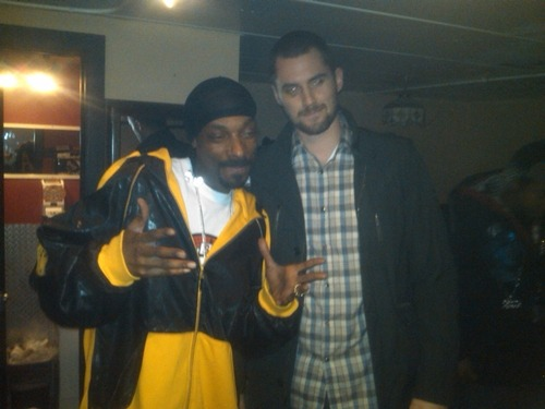 Kevin Love & Snoop I hope Love doesn't have a random drug screening any time soon!
