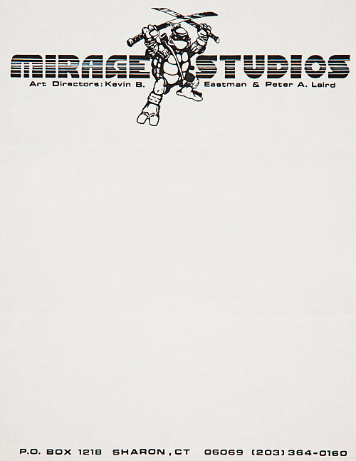 letterheady:  Mirage Studios, 1985 | Source Letterhead used by Mirage Studios in 1985, a year after they published the first issue of their Teenage Mutant Ninja Turtles comic book.