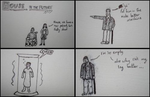 So I made this little comic earlier, yeah it's kind of crappy but I'm not a very good artist, so calm down yeah.