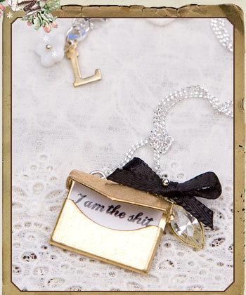 "Can't get enough Locher's! Take a look at this ""I'm the shit"" charm necklace."