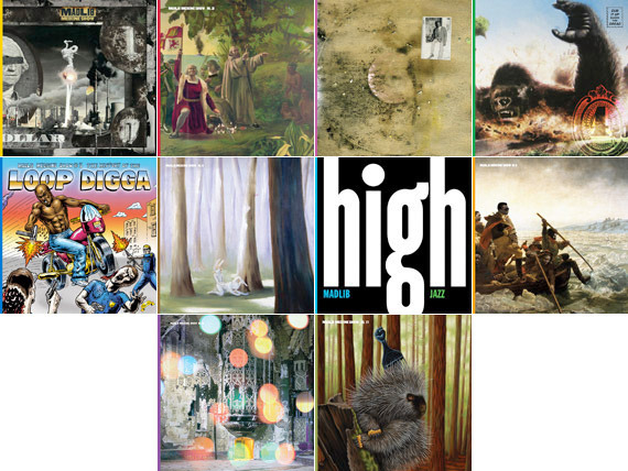 pitchfork:  We speak with Jeff Jank— longtime art director for revered indie label Stones Throw— about the visuals for Madlib's ambitious Medicine Show collection (pictured). It's the latest installment of our Take Cover series, which highlights awesome album covers and the people responsible for them. Read the interview and check out the artwork.