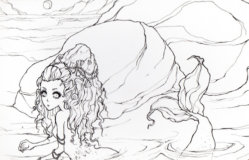 old mermaid i drew like last year