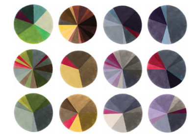 Prêt-à-Porter by Piodão Group - pie chart rugs  via Design Milk